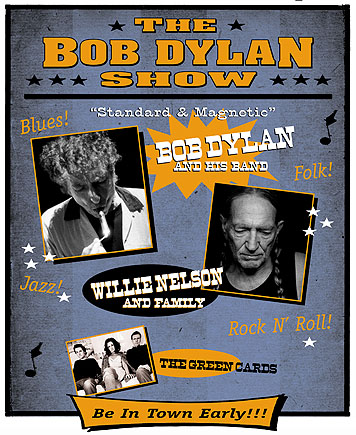 The Bob Dylan Show with Special Guest Willie Nelson at AutoZone Park July 1st, 2005